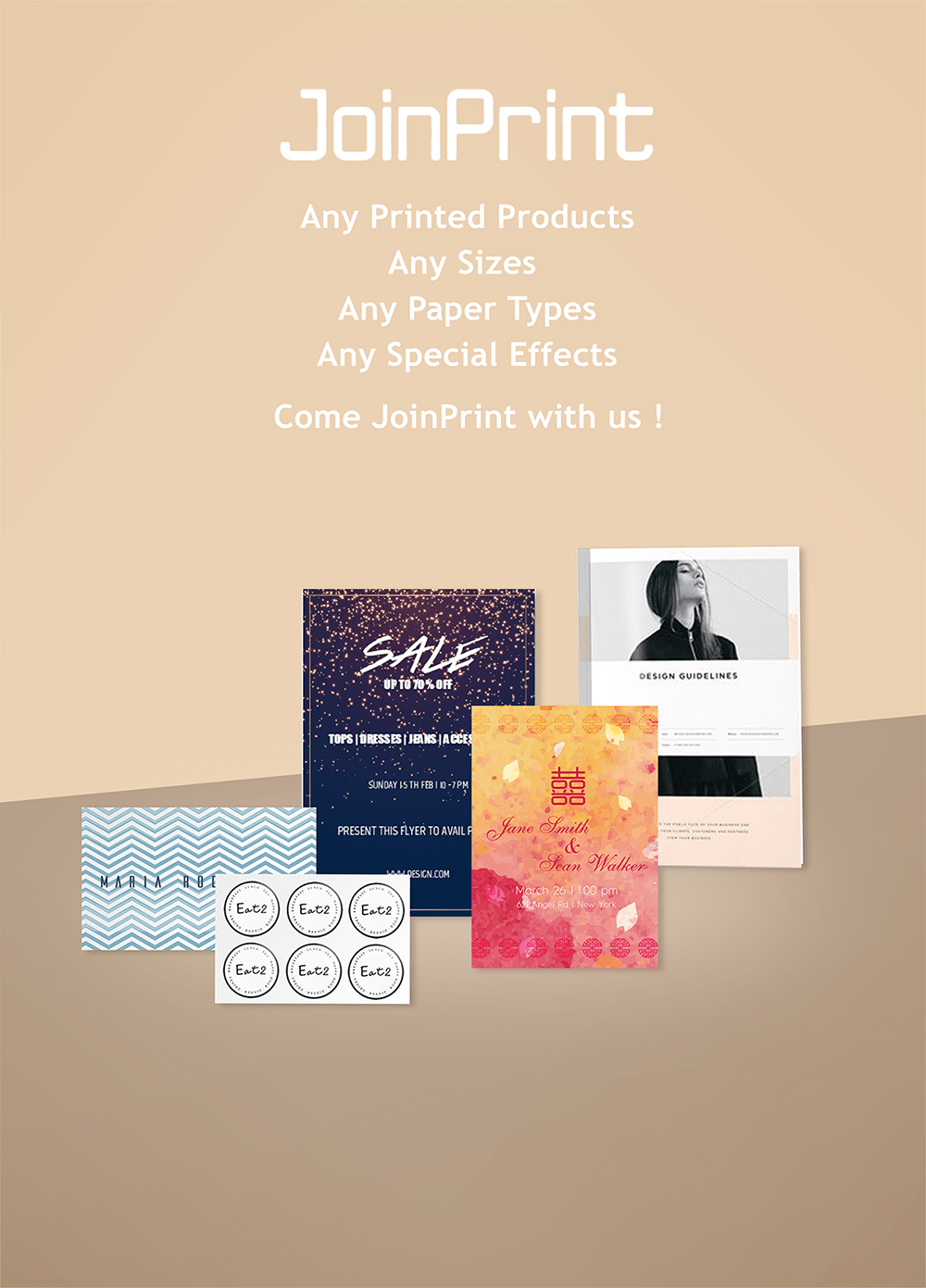 Joinprint business card name card online business printing matte silk business card reheart Gallery